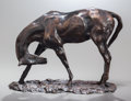 Fine Art - Sculpture, American:Modern (1900 - 1949), CHARLES CARY RUMSEY (American, 1879-1922). Horse Scratching.Bronze with brown patina. 8-1/2 inches (21.6 cm) high. ...