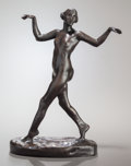 Fine Art - Sculpture, American:Modern (1900 - 1949), CHARLES CARY RUMSEY (American, 1879-1922). Dancing FemaleNude, 1910. Bronze with brown patina. 9-3/4 inches (24.8 cm)h...