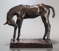 Fine Art - Sculpture, American:Modern (1900 - 1949), CHARLES CARY RUMSEY (American, 1879-1922). Colt ScratchingNose, 1916. Bronze with brown patina. 6-1/2 inches (16.5 cm)...