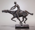 Fine Art - Sculpture, American:Modern (1900 - 1949), CHARLES CARY RUMSEY (American, 1879-1922). Winning the Race.Bronze with brown patina. 9-1/4 inches (23.5 cm) high. Insc...
