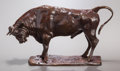 Fine Art - Sculpture, American:Modern (1900 - 1949), CHARLES CARY RUMSEY (American, 1879-1922). Small Buffalo.Bronze with brown patina. 5-3/4 inches (14.6 cm). Inscribed on...