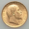 Australia, Australia: Edward VII gold Sovereign 1909-S,...