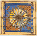 "Luxury Accessories:Accessories, Hermes Blue & Yellow ""Cuillers d'Afrique,"" by Caty Latham SilkScarf. ..."