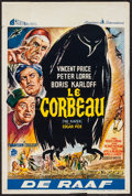 "Movie Posters:Horror, The Raven (American International, 1963). Belgian (14"" X 21""). Horror.. ..."