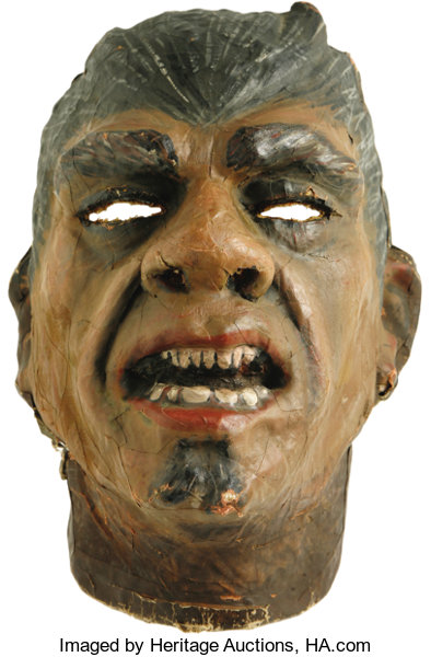 Movie TV MemorabiliaCostumes Lou Costellos Mask From Abbott And Costello Meet