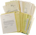 Music Memorabilia:Autographs and Signed Items, Dave Brubeck Tour Documents Archive. Roughly 50 pieces ofcorrespondence dating from 1962-67, between Dave Buck andpromoter... (Total: 1 Item)