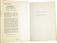 """Jackie Robinson Signed """"Baseball Has Done It."""" A first edition copy of Robinson's influential book about integ..."""
