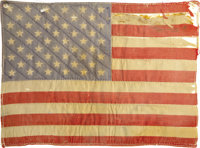 "Peter Fonda's American Flag Patch from His ""Easy Rider"" Jacket. A surprise mega-hit during its 1969 theatrical..."