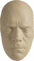 Movie/TV Memorabilia:Memorabilia, Boris Karloff Life Mask. A life mask of the actor who first broughtFrankenstein's Monster to life, used to design make-up a... (Total:1 Item)