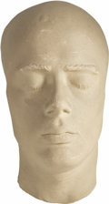 Movie/TV Memorabilia:Memorabilia, James Dean Life Mask. A life mask of the tragic actor, made duringproduction of Giant, not long before his untimely dea...(Total: 1 Item)