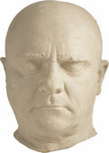"""Movie/TV Memorabilia:Memorabilia, James Cagney """"Man of a Thousand Faces"""" Life Mask. A life mask ofthe great actor, used to design make-up appliances for his...(Total: 1 Item)"""