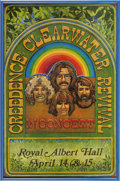 Music Memorabilia:Posters, Creedence Clearwater Revival Royal Albert Hall Concert Poster(1970). John Fogerty and company were at their artistic peak ...(Total: 1 Item)
