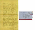 Movie/TV Memorabilia:Autographs and Signed Items, Katharine Hepburn Handwritten Letter to Edna Ferber. A single-pagehandwritten letter in pencil from the actress to novelist...(Total: 1 Item)
