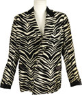 "Movie/TV Memorabilia:Costumes, ""The Smothers Brothers Comedy Hour"" Dick Smothers Screen-WornJacket. Dick Smothers' wild, faux zebra-skin performance jacke...(Total: 1 Item)"