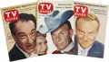 Movie/TV Memorabilia:Memorabilia, George Burns, Ralph Edwards, and Victor Borge Autographed TVGuides. A collection of three TV Guides from the 1950s,the... (Total: 1 Item)