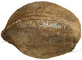 "Movie/TV Memorabilia:Autographs and Signed Items, ""Gilligan's Island"" Coconut Signed by the Professor. A coconut signed by the shipwrecked professor (yes, he had a name on t... (Total: 1 Item)"