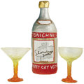 "Movie/TV Memorabilia:Props, ""The Flintstones"" Cocktail Set. A Stonichnaya Quarry City Vodkabottle (27"" x 9"") carved out of silver ""rock"" (foam, actuall...(Total: 1 Item)"