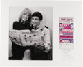 Music Memorabilia:Photos, Gene Pitney and Marianne Faithfull Silver Gelatin Print by IanWright with Handbill. A large-format photograph of singer-son...(Total: 1 Item)
