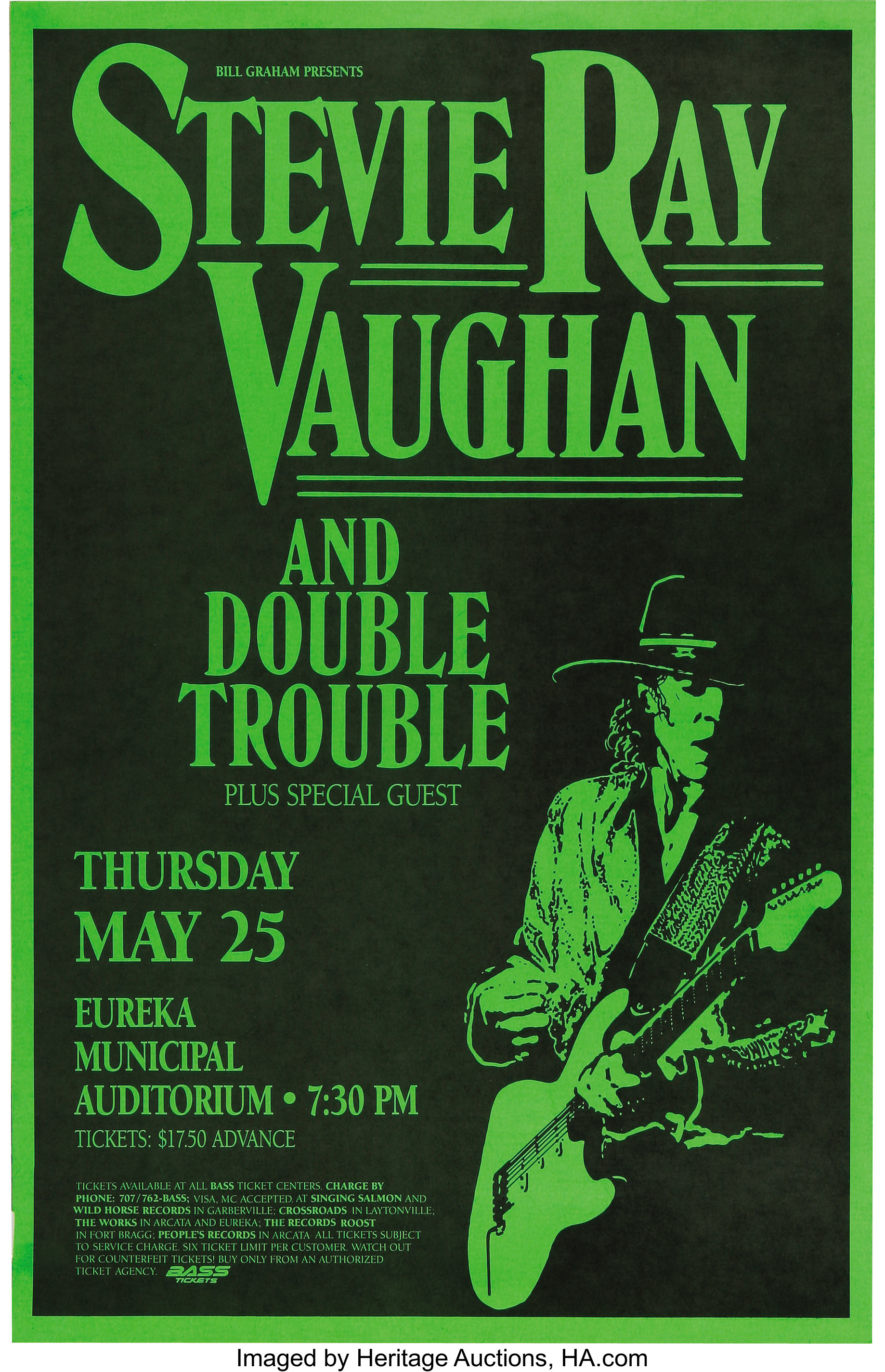 stevie ray vaughan concert poster group 1989 91 this lot lot 23543 heritage auctions. Black Bedroom Furniture Sets. Home Design Ideas