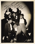 "Music Memorabilia:Autographs and Signed Items, Three Chocolateers Signed Photo. A vintage b&w 8"" x 10"" photoof the vaudeville comedy troupe, inscribed ""Helen: A sweet gir...(Total: 1 Item)"
