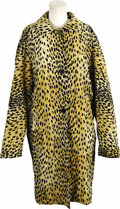 Movie/TV Memorabilia:Costumes, Barbra Streisand Owned Coat. A leopard print three-quarter lengthcoat, lined in black satin, formerly owned and privately w...(Total: 1 Item)
