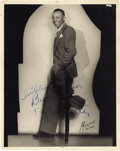 "Movie/TV Memorabilia:Autographs and Signed Items, Peg Leg Bates Signed Photo. A vintage b&w 8"" x 10"" photo of thelegendary one-legged tap dancer, inscribed and signed by him...(Total: 1 Item)"