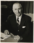 """Movie/TV Memorabilia:Autographs and Signed Items, Roy Disney Autographed Photo. A b&w 11"""" x 14"""" photo of RoyDisney, autographed by him in the lower left corner in blackink.... (Total: 1 Item)"""
