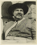 "Movie/TV Memorabilia:Autographs and Signed Items, Henry Calvin Signed Photo. A b&w 8"" x 10"" promo still of HenryCalvin as ""Sgt. Garcia"" in the '50s Zorro TV series, insc...(Total: 1 Item)"