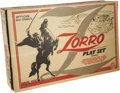 "Movie/TV Memorabilia:Toys, Zorro Play Set. ""Official Walt Disney's Zorro Play Set,""manufactured by Marx Toys and based, of course, on thewell-remembe... (Total: 1 Item)"