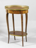Decorative Arts, French, A Louis XVth Style Occasional Table . 19th Century. 25 x 24 x 12inches (63.5 x 61.0 x 30.5 cm). ...