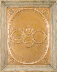 An American Copper Relief Plaque Commemorating the Declaration of Independence 1890 Copper 17 inches hig
