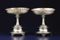 Silver Holloware, British:Holloware, A Pair of Scottish Silver Compotes. John Mitchell, Glasgow,Scotland. Circa 1858-1859. Silver. Marks: (lion rampant), (tre...(Total: 2 Items)