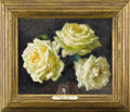Fine Art - Painting, European:Contemporary   (1950 to present)  , Roses de Mon Jardin (Roses in a Vase). . Charles Clement Francis Perron, French (1893-1958). Oil on panel, framed. Marks... (Total: 2 Items)