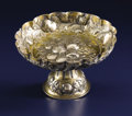 Silver Holloware, Continental:Holloware, A German Silver Tazza. Unknown maker, Germany. 19th century. Silverand silver gilt. Marks: N, (star), 13 . 5 inch...