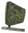 Bronze:American, David Cargill (American, born 1928). . Passengers FromEarth . 1973. Bronze. Signed and dated lower right. 2...