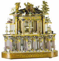 A Continental Miniature Palace Model  Unknown maker, possibly France Late 19th through 20th century Wood