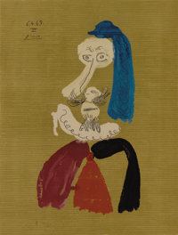 Pablo Picasso (Spanish, 1881-1973)  Imaginary Portrait (#24 of a series of 29)