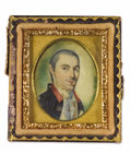 Fine Art - Painting, American:Antique  (Pre 1900), Charles Willson Peale (American, 1741-1827). . Dr. EbenezerCrosby (1753-1788). Circa 1777. Watercolor on iv...