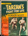 "Movie Posters:Adventure, Tarzan's Fight for Life & Other Lot (MGM, 1958). Silk ScreenedPoster & Poster (30"" X 40""). Adventure.. ... (Total: 2 Items)"