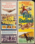 "Movie Posters:Action, The 300 Spartans & Other Lot (20th Century Fox, 1962). Inserts(2) (14"" X 36""). Action.. ... (Total: 2 Items)"