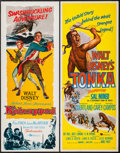 "Movie Posters:Adventure, Kidnapped & Other Lot (Buena Vista, 1960). Inserts (2) (14"" X36""). Adventure.. ... (Total: 2 Items)"