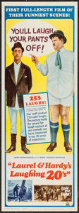 "Movie Posters:Comedy, Laurel and Hardy's Laughing 20's (MGM, 1965). Insert (14"" X 36"").Comedy.. ..."