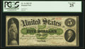 Large Size:Demand Notes, Fr. 1a $5 1861 Demand Note PCGS Very Fine 25.. ...