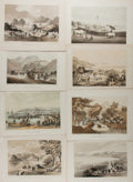 "Books:Prints & Leaves, William Heine and Eliphalat M. Brown. Lot of Eight Antique Tinted Lithographs Featuring Asian Subjects. 11"" x 8.5"", after da..."