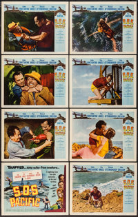 "SOS Pacific (Universal International, 1960). Lobby Card Set of 8 (11"" X 14""). Thriller. ... (Total: 8 Items)"