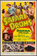 "Movie Posters:Adventure, Safari Drums (Allied Artists, 1953). One Sheet (27"" X 41"") andLobby Cards (10) (11"" X 14""). Adventure.. ... (Total: 11 Items)"