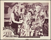 """The Three Stooges in Three Little Pirates (Columbia, 1946). Lobby Card (11"""" X 14"""")"""