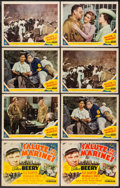 "Movie Posters:War, Salute to the Marines (MGM, 1943). Title Lobby Cards (2) &Lobby Cards (6) (11"" X 14""). War.. ... (Total: 8 Items)"