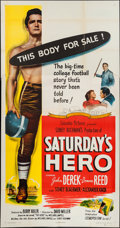 "Movie Posters:Drama, Saturday's Hero (Columbia, 1951). Three Sheet (41"" X 79""). Drama.. ..."