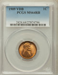 Lincoln Cents: , 1909 VDB 1C MS64 Red and Brown PCGS. PCGS Population (2281/1252).NGC Census: (1171/1154). Mintage: 27,995,000. Numismedia ...